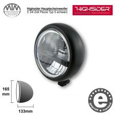 Highsider LED Hauptscheinwerfer 5 3/4 Zoll Pecos Typ 5 schwarz