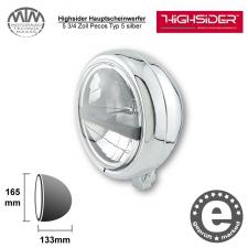Highsider LED Hauptscheinwerfer 5 3/4 Zoll Pecos Typ 5 silber