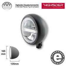 Highsider LED Hauptscheinwerfer 5 3/4 Zoll Pecos Typ 6 schwarz