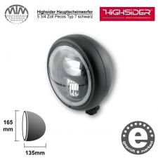 Highsider LED Hauptscheinwerfer 5 3/4 Zoll Pecos Typ 7 schwarz