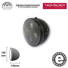 Highsider LED Hauptscheinwerfer 5 3/4 Zoll Atlanta schwarz