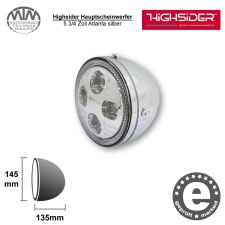 Highsider LED Hauptscheinwerfer 5 3/4 Zoll Atlanta silber