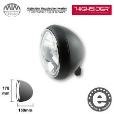 Highsider LED Hauptscheinwerfer 7 Zoll Yuma 2 Typ 3 schwarz