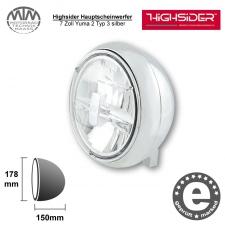 Highsider LED Hauptscheinwerfer 7 Zoll Yuma 2 Typ 3 silber