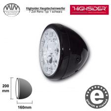 Highsider LED Hauptscheinwerfer 7 Zoll Reno Typ 1 schwarz