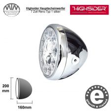 Highsider LED Hauptscheinwerfer 7 Zoll Reno Typ 1silber