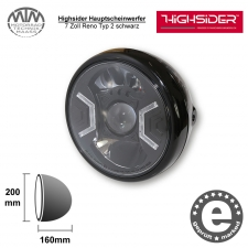 Highsider LED Hauptscheinwerfer 7 Zoll Reno Typ 2 schwarz