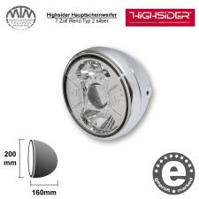 Highsider LED Hauptscheinwerfer 7 Zoll Reno Typ 2 silber