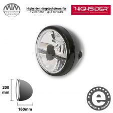 Highsider LED Hauptscheinwerfer 7 Zoll Reno Typ 3 schwarz