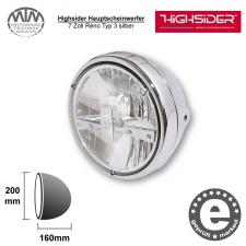 Highsider LED Hauptscheinwerfer 7 Zoll Reno Typ 3 silber