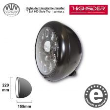 Highsider LED Hauptscheinwerfer 7 Zoll HD-Style Typ 1 schwarz