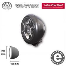 Highsider LED Hauptscheinwerfer 7 Zoll HD-Style Typ 2 schwarz