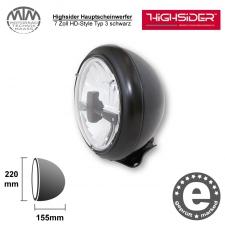 Highsider LED Hauptscheinwerfer 7 Zoll HD-Style Typ 3 schwarz