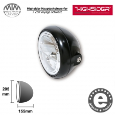 Highsider LED Hauptscheinwerfer 7 Zoll Voyage schwarz