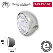 Highsider LED Hauptscheinwerfer 7 Zoll Voyage silber