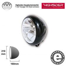 Highsider LED Hauptscheinwerfer 7 Zoll Voyage HD-Style schwarz