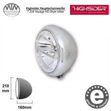 Highsider LED Hauptscheinwerfer 7 Zoll Voyage HD-Style silber