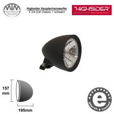 Highsider Hauptscheinwerfer 5 3/4 Zoll Classic 1 schwarz