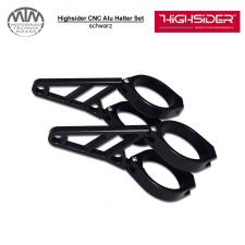 Highsider CNC Alu Lampenhalter Set 47-49-50-52-54mm schwarz